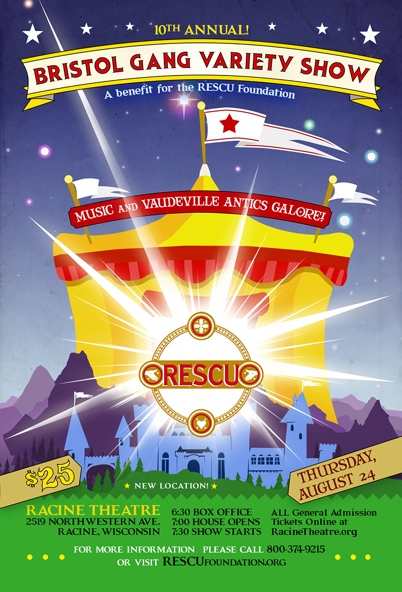 rescu variety show 2017 circus sideshow art poster