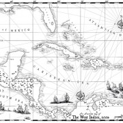 Map of the Caribbean Chart