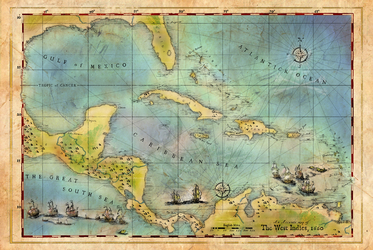 . caribbean pirate map   forge design