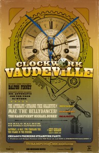 steampunk vintage theatrical poster keyblade
