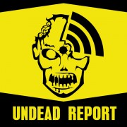Undead Report Zombie Logo Sticker Design