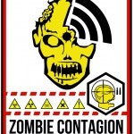 zombie area warning sticker poster