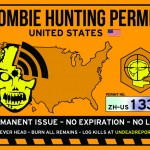 zombie hunting permit sticker